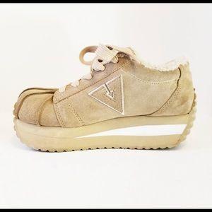 "Volatile Shoes - Vintage Rare Volatile suede platform ""Tuff""sneaker"